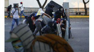 Protestas. Una barricada opositora en las calles de Caracas.