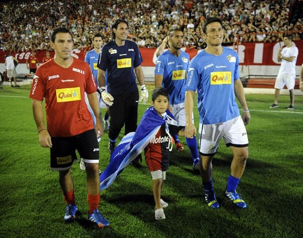 Maxi Rodríguez y el Pupi Zanetti