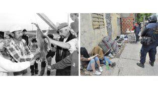 Mayo de 1996: la escena del gato que recorrió el país y el mundo. Octubre de 2012: un operativo policial contra la venta minorista de droga.