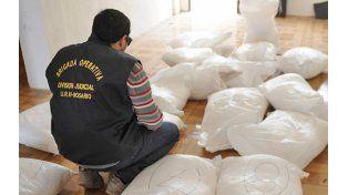 Decomiso. En los últimos meses se dieron grandes golpes contra el narcotráfico en toda la provincia.
