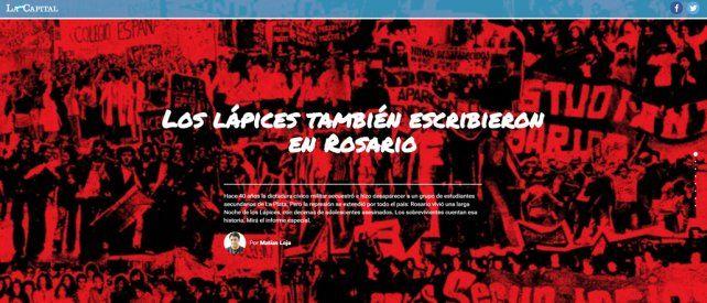 Un informe multimedia para no olvidar la Noche de los Lápices