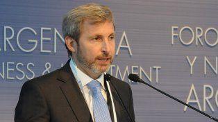 Ministro. Frigerio disertó ayer en el Foro de Inversión que se realiza en el CCK.