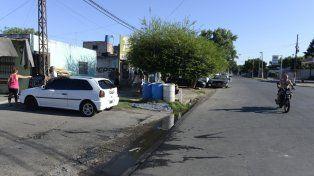 Ayacucho y Seguí. Herrera lavaba su VW Gol cuando fue alcanzado por las balas policiales. Ocurrió en enero de 2015.