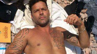 Ricky publicó en Instagram una imagen tomando sol.
