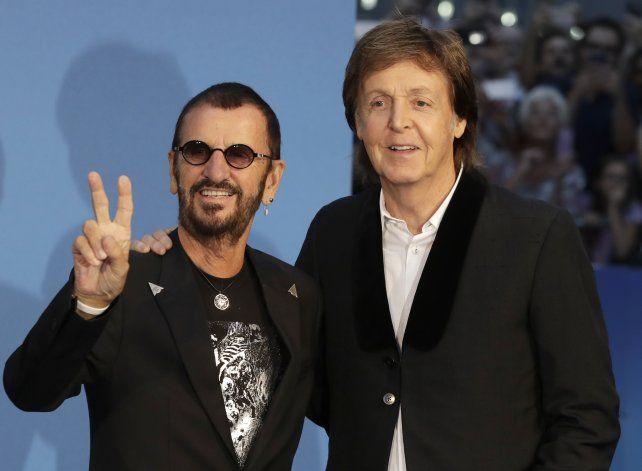 Leyendas. Ringo Starr y Paul McCartney