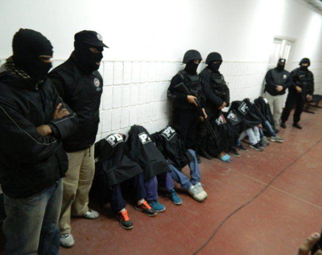 Operativo. Los detenidos fueron ubicados en la zona de Junín y Felipe Moré.