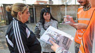 Intervención. De operadores sociales del Plan Abre en barrio Toba.