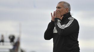 El entrenador Marcelo Vaquero.