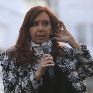 La ex mandataria, Cristina Fernández.