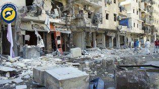 destrucción. Un barrio de Alepo