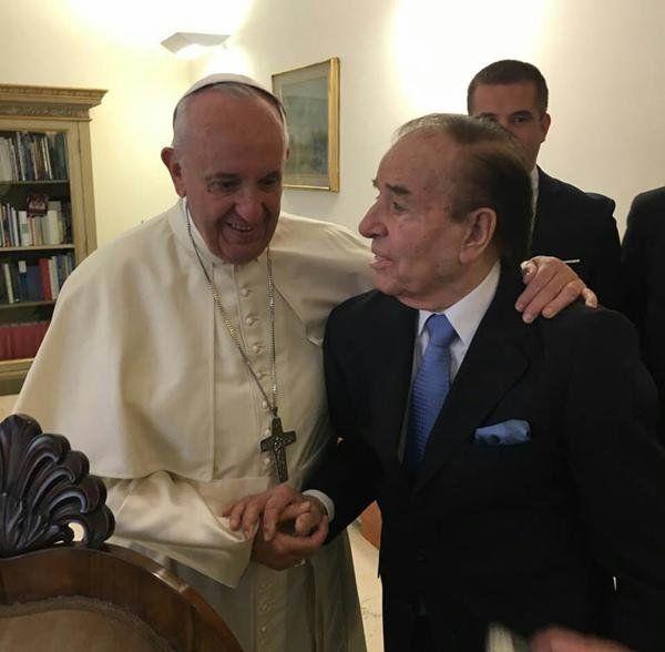 El Papa recibió al expresidente.
