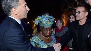 Macri y Bono se encontraron en un plenario organizado por Clinton en Nueva York