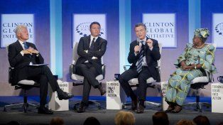 El presidente Mauricio Macri expusó hoy en la Clinton Global Initiative.