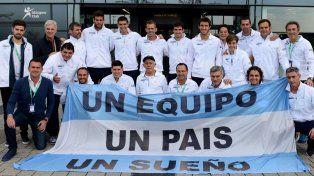 Una bandera. El equipo argentino de Copa Davis