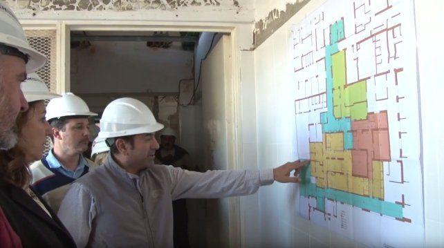 La intendenta Fein supervisó el avance de las obras. La estructura no acompañaba al desarrollo de los equipos de este hospital