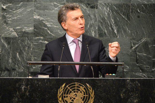 Voz. Macri utilizó 15 minutos para su discurso