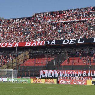 Menos hinchas. En el partido ante Tigre, el Coloso estuvo vallado a modo de mensaje para los barrabravas.