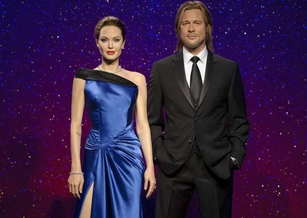 A Angelina Jolie y Brad Pitt los separaron hasta en el museo de cera Madame Tussauds