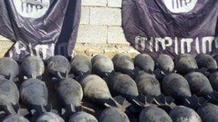 El Isis exhibe sus obuses químicos.