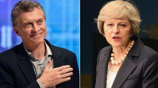 Entredicho. El presidente Macri y la premier May se cruzaron en la ONU