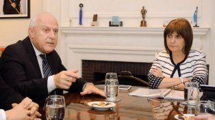 Bullrich, Lifschitz y los jueces federales están reunidos ahora en Rosario