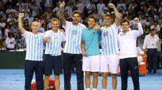 El equipo argentino de Copa Davis que se metió en la final ante Croacia tras eliminar a Gran Bretaña.