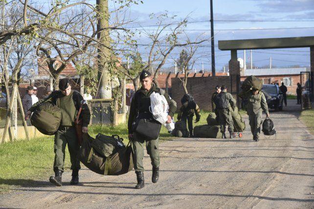 Los fectivos de Gendarmería