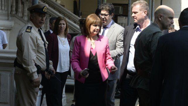 En Tribunales. La ministra de Seguridad de la Nación