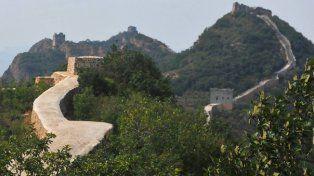 Las obras de reparación de la Gran Muralla China