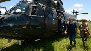 Confirman que el helicóptero de Macri tuvo un aterrizaje abrupto ayer en Olivos