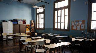 Aulas vacías. Los docentes reclaman a las autoridades que se abra una nueva instancia de negociación salarial.