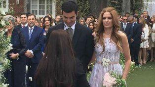 La pareja en uno de los momentos de la ceremonia.