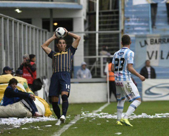 Gissi cumplió en su estreno con la casaca auriazul ante Atlético Rafaela.