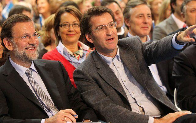 Voto crucial. Rajoy con Alberto Núñez Feijóo