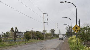 Sur. El confuso episodio ocurrió en San Martín al 7200, a metros del Saladillo.