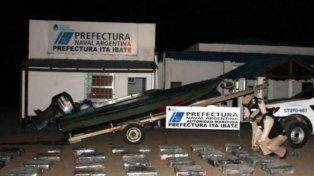 Los efectivos de prefectura incautaron el cargamento.