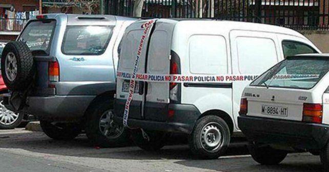 El utilitario incautado por las fuerzas de seguridad.