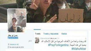 El tuitero posteó posibles atentados en la red social.
