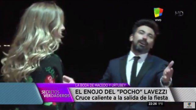 El tenso cruce del Pocho Lavezzi con la prensa tras su ingreso a la boda de Macedo y Urtubey