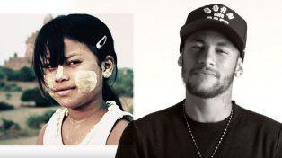 Neymar participa de la campaña que lanzó Unicef para concientizar sobre la tragedia de la guerra en el mundo.