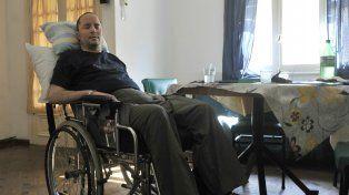 Pablo Semitiel, a principios de septiembre en su casa de Arroyito.