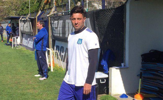 Pablo Alvarez volvió a entrenarse con el plantel de Racing tras el fallecimiento de su esposa