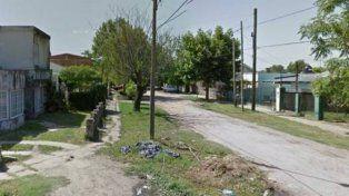 La zona donde los ladrones abordaron y robaron el auto.