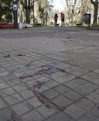 Plaza López. El crimen fue en julio.