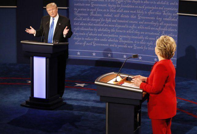 Palo y palo. Los dos candidatos no decepcionaron a quienes pronosticaron un choque sin concesiones.