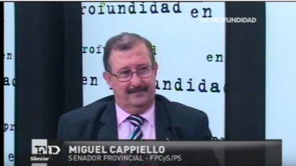 El senador provincial Miguel Cappiello.