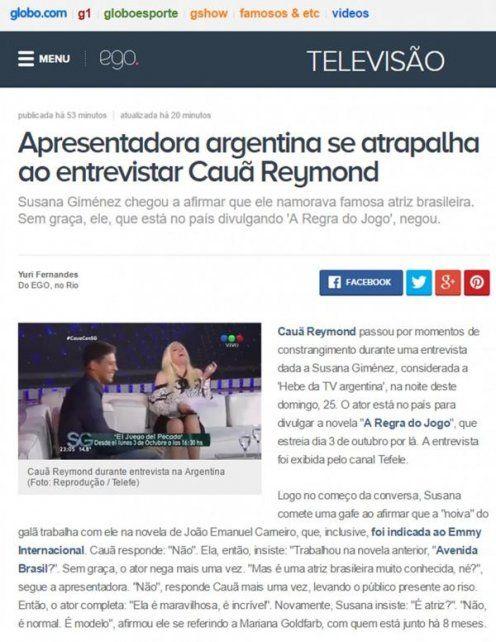Cauã Reymond pasea junto a su novia hot mientras en Brasil se ríen de Susana