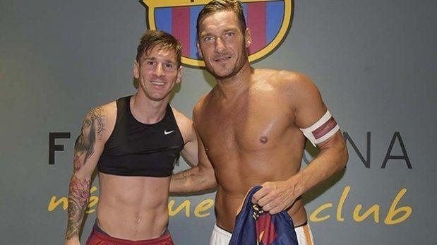 Messi le mandó un emotivo saludo de cumpleaños a Totti y le confesó que es su admirador