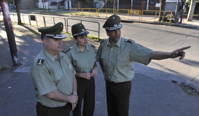 Observación en Rosario. Los uniformados trasandinos tendrán un diagnóstico de la ciudad el próximo viernes.