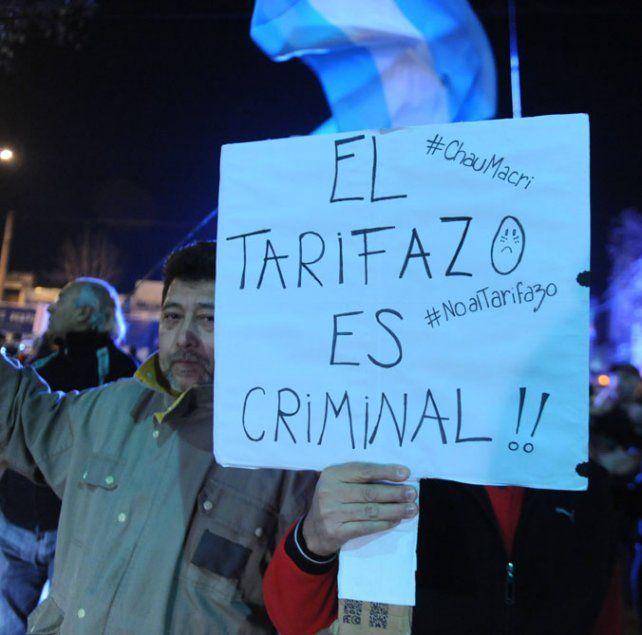 Marchas. Las protestas por el tarifazo se extendieron por todo el país.